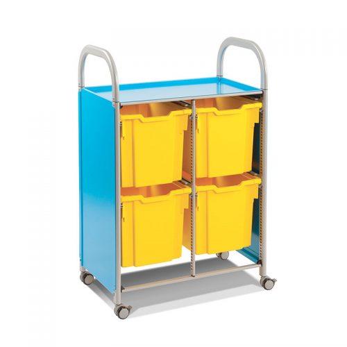 Callero Trolley Duplo com Tabuleiros Jumbo Azul